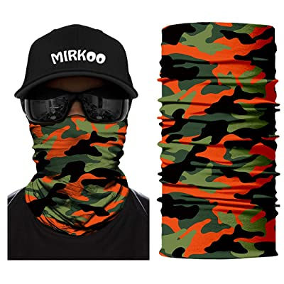 MIRKOO Camo Tube Face Mask, Breathable Seamless Dust-proof Windproof UV Sun Protection Motorcycle Bicycle ATV Outdoor Face Mask for Motorcycling Cycling Hiking Camping Fishing Men Women Teenager(750): Automotive