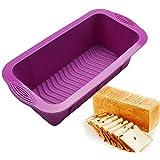 sfghouse rectangular silicona Cake Pan Mold–Molde antiadherente para hornear moldes latas 25,5x 13x 7cm