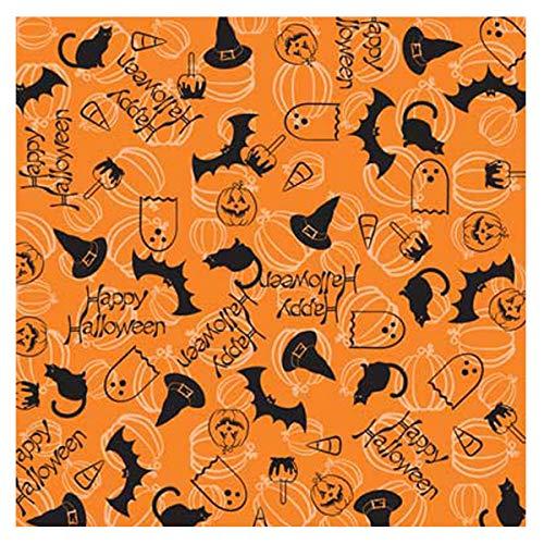 Happy Halloween Bandana - Single Piece 22x22 -