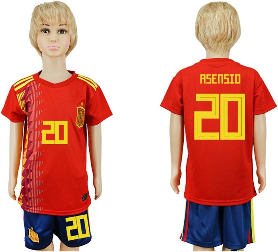 DARROTT- Camiseta de fútbol para niños, diseño de la selección nacional de España 20 Home 2018, casual , 16# (3 to 4 Years Old), Rojo: Amazon.es: Deportes y aire libre