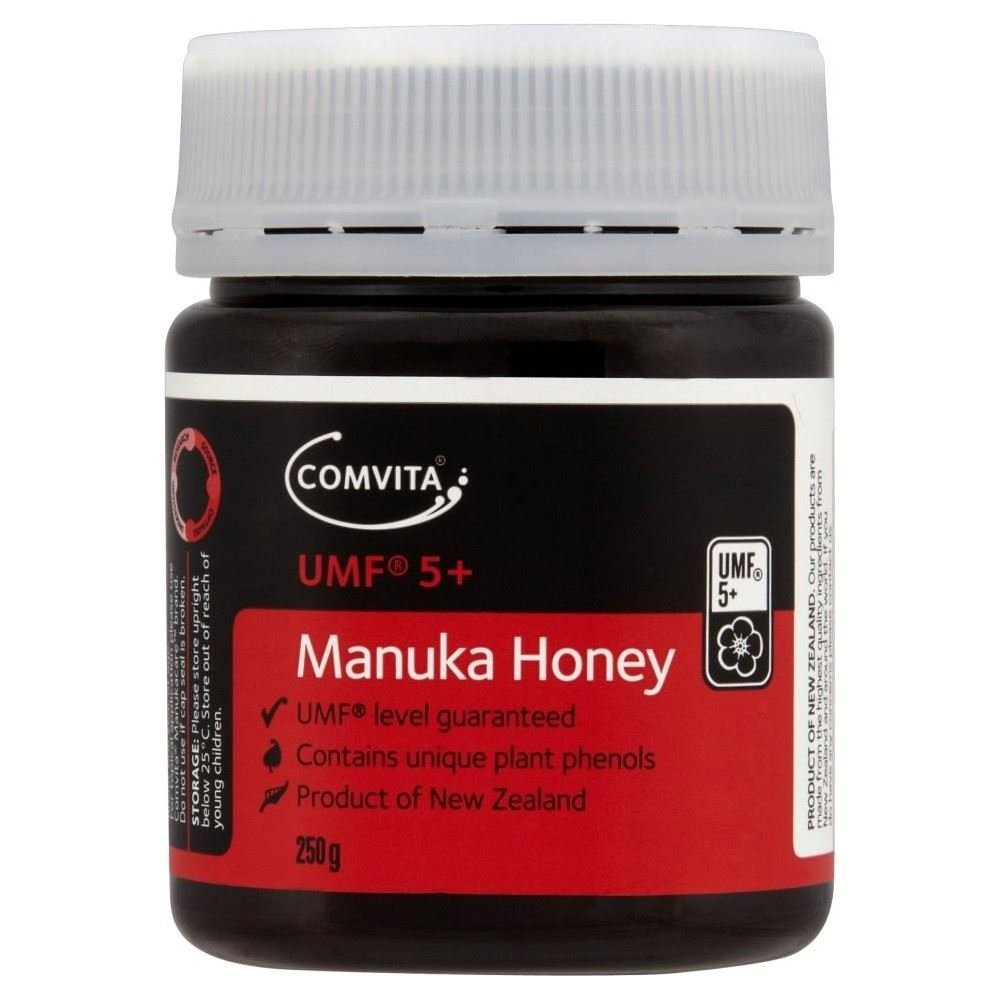 Comvita Active 5+ Manuka New Zealand Honey (250g) - Pack of 6 by Comvita