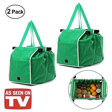 Bolsas reutilizables para comestibles, plegables, color ...