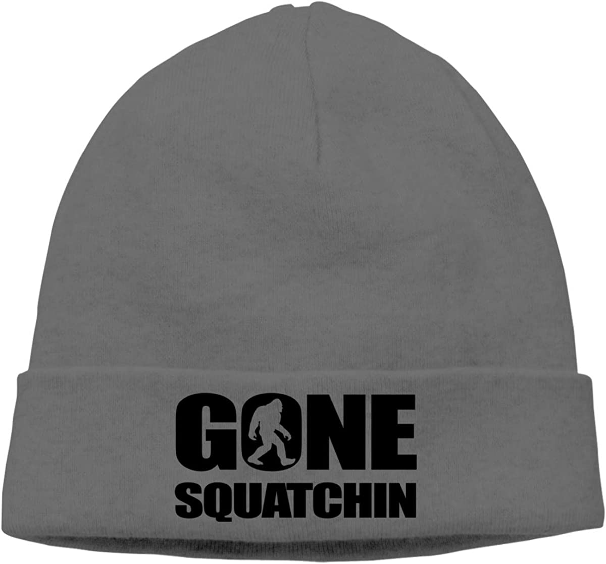 Nskngr Wagroo Gone Squatchin Cap Unisex Cuffed Warm Plain Skull Winter Hats