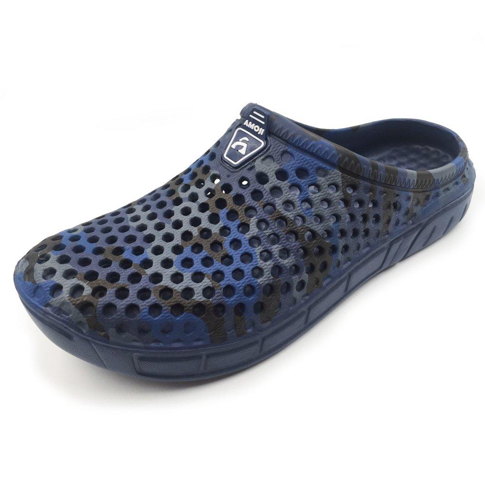 Amoji Unisex Camouflage Slippers Clogs Sandals