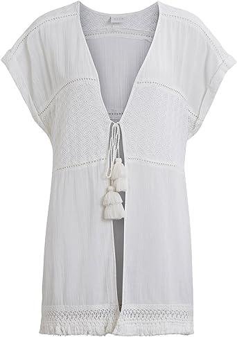 Vila Kaftan ibicenco Blanco Pompones Clothes (S - Blanco ...