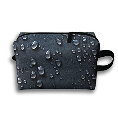 4af3434edcff 30%OFF LEIJGS Black Water Drop Background Small Travel Toiletry Bag Super  Light Toiletry Organizer
