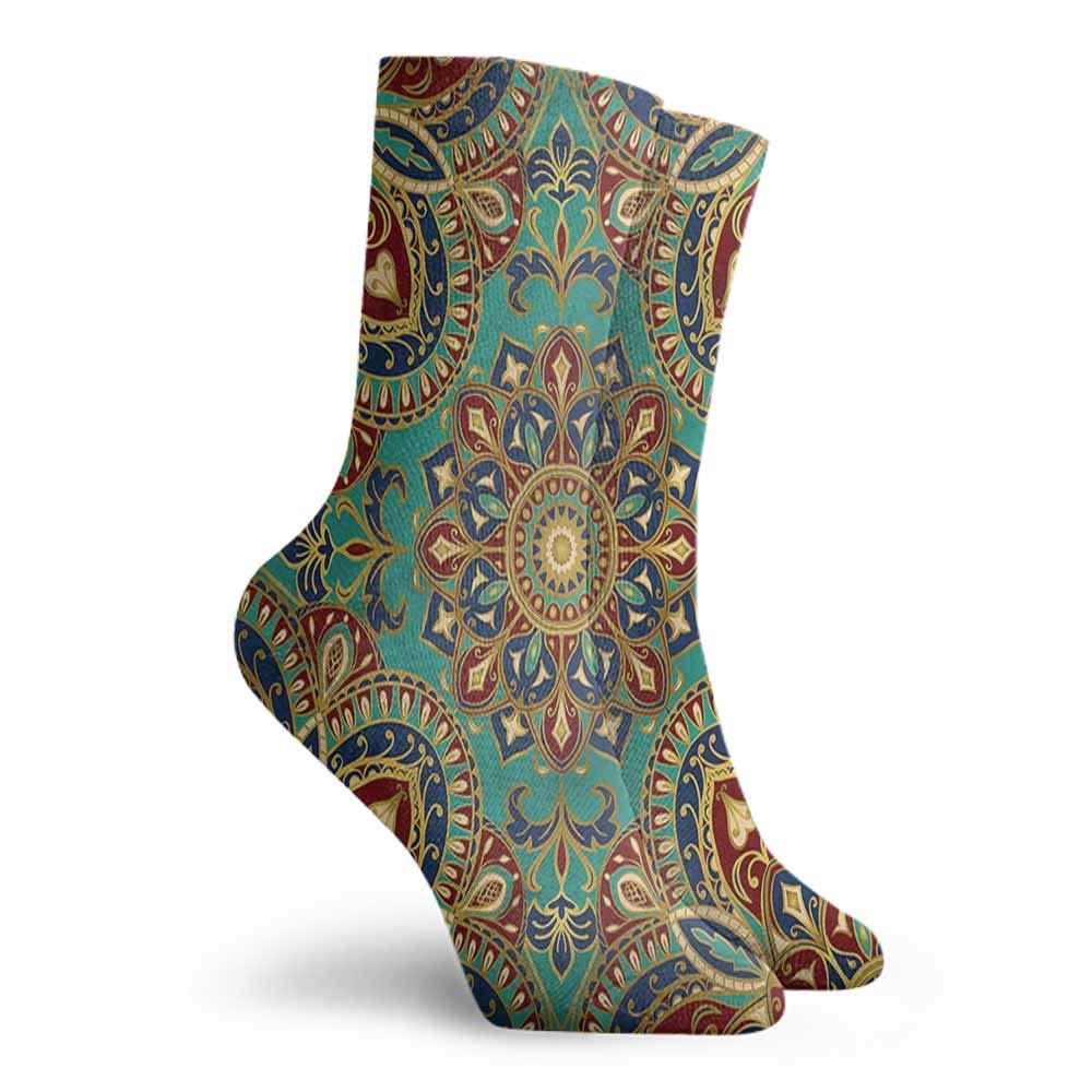 Funny Socks For Male Mandala,Antique Stylized Heart,socks for men size 13-15