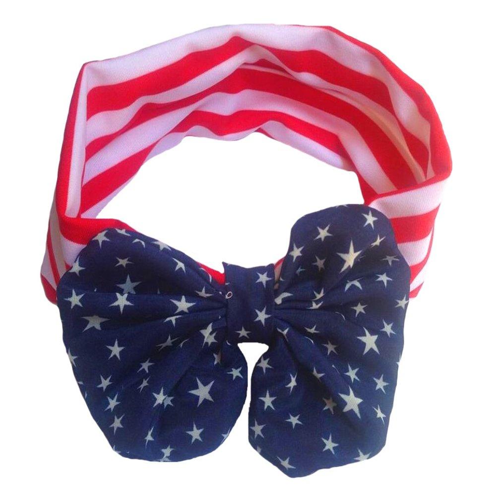 Amazon.com  Parent Child Headbands Turban Bow American Flag Pattern Hair  Band Bandana Elastic Hairband New Year Xmas Gift  Clothing 28fd8ed51195
