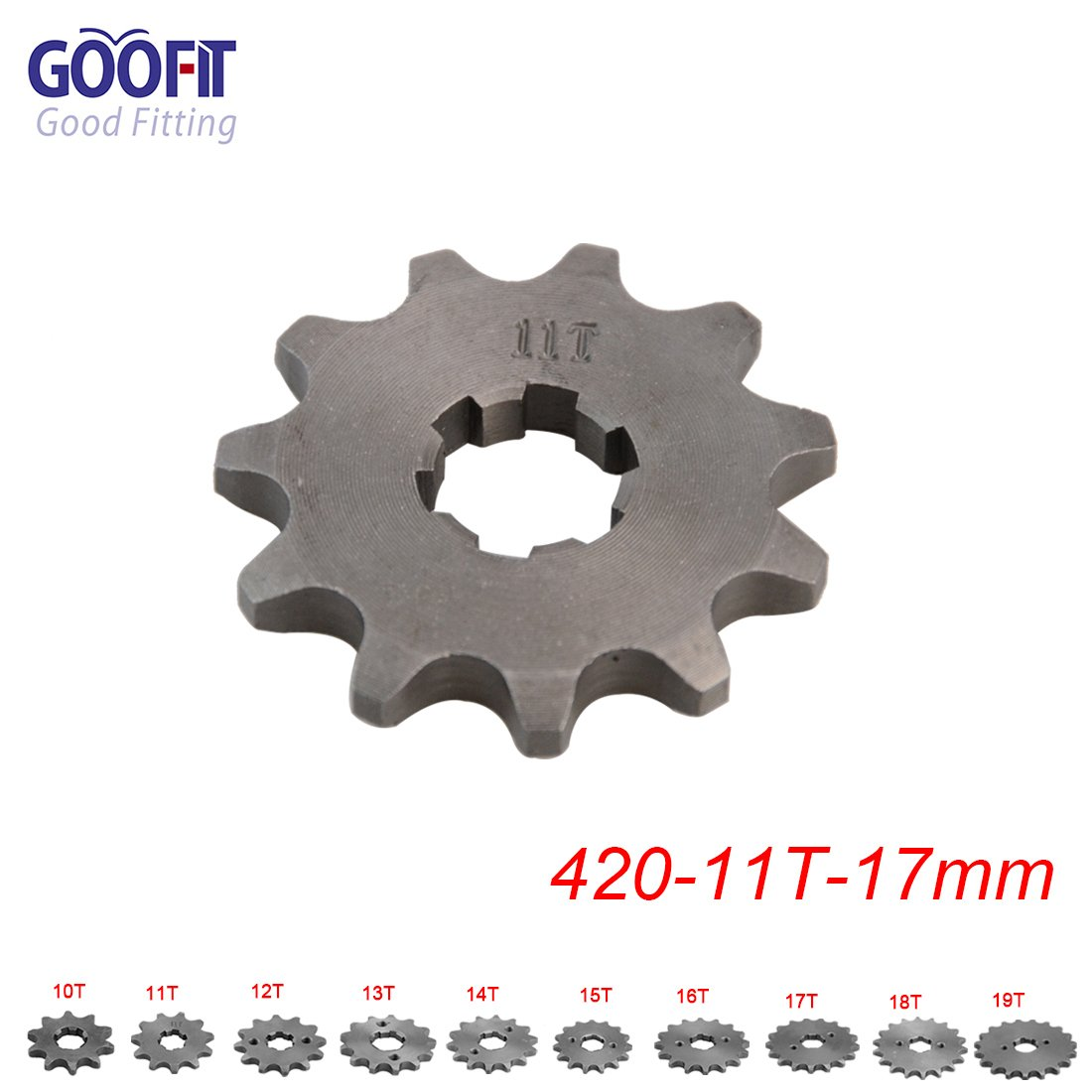 Goofit 428 13 T 17mm dents moto Pignon moteur Pignons coniques de cha/îne Engine For 50cc 70cc 90cc 110cc Motorcycle Dirt Bike ATV Quad