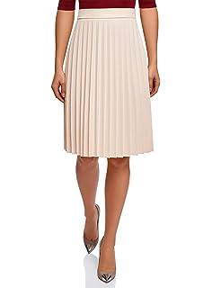 oodji Ultra Mujer Minifalda Plisada con Lúrex: Amazon.es: Ropa y ...