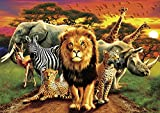 "Buffalo Games - African Beasts - 500 Piece Jigsaw Puzzle, Brown, Black, Gray, 21.25"" L X 15"" W"
