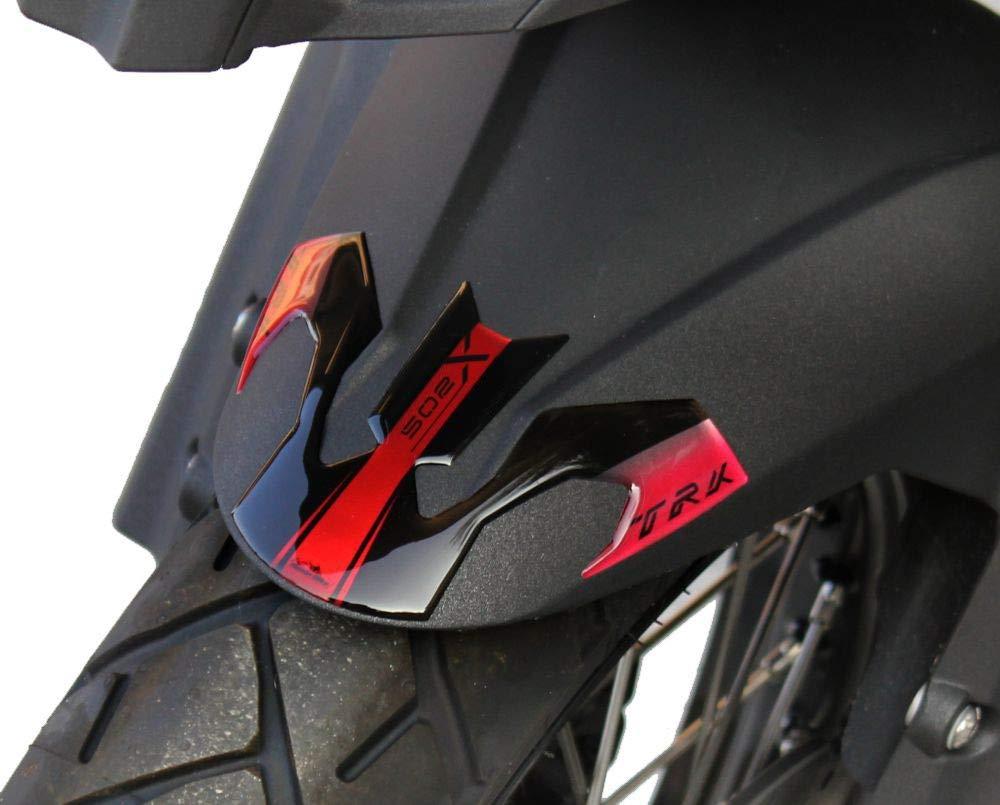 Benelli Trk 502 X 2017-18 Adesivo Resinato Protezione Parafango Frontale Rosso Metal