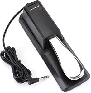 Suwimut Sustain Pedal, Universal Foot Damper with Piano Style Action for Digital Piano, Electronic Keyboard