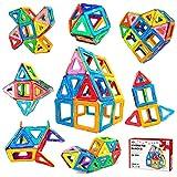 Jasonwell Magnetic Tiles Building Blocks - 42 PCS Boys Girls Magnetic Building Set Preschool Educational Construction Kit Magnet Stacking Toys Kids Toddlers Children 3 4 5 6 7 8 9 Years Old