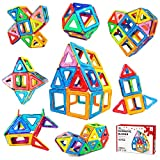 Toys : Jasonwell 42 Pcs Magnetic Tiles Building Blocks Set for Boys Girls Preschool Educational Construction Kit Magnet Stacking Toys for Kids Toddlers Children Age 3 4 5 6 7 8 Year Old