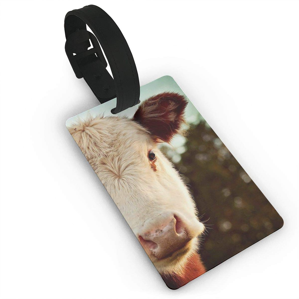 2 Pack Luggage Tags Cow Travel Tags For Suitcase Bag Accessories