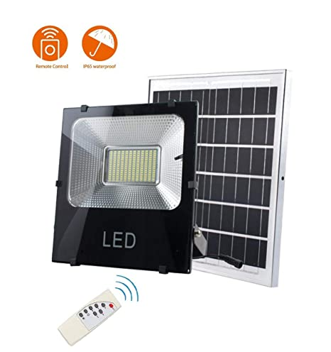 Z-TYND Solar Proyector LED Exterior Jardín Luz 6000 Lúmenes IP66 ...