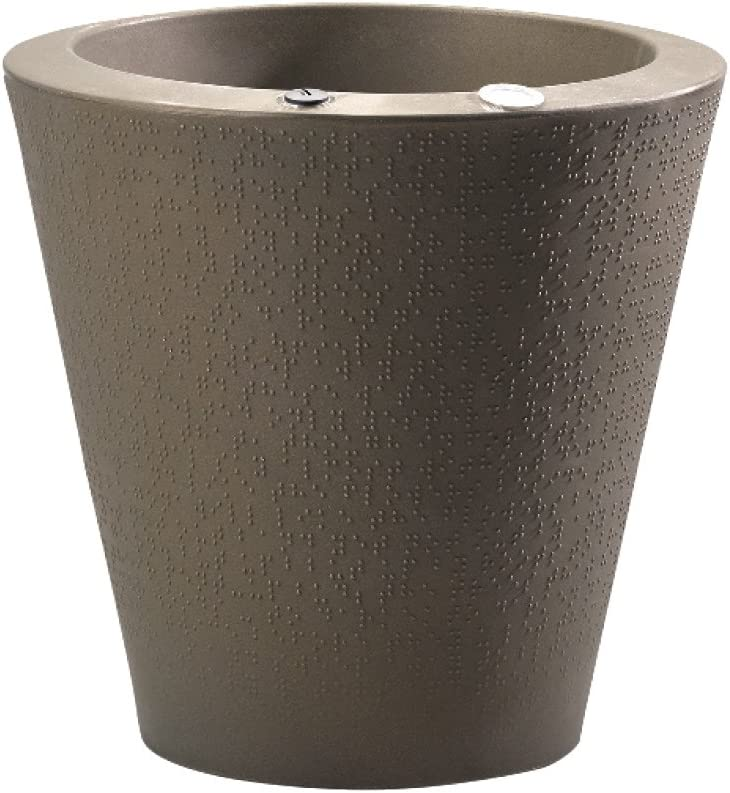 Crescent Garden Self Watering Dot Planter with TruDrop System, 20 , Old Bronze