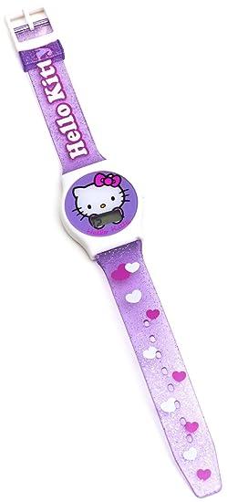 Hello Kitty 25427 - Reloj para niños de Cuarzo, Correa de plástico Color: Amazon.es: Relojes