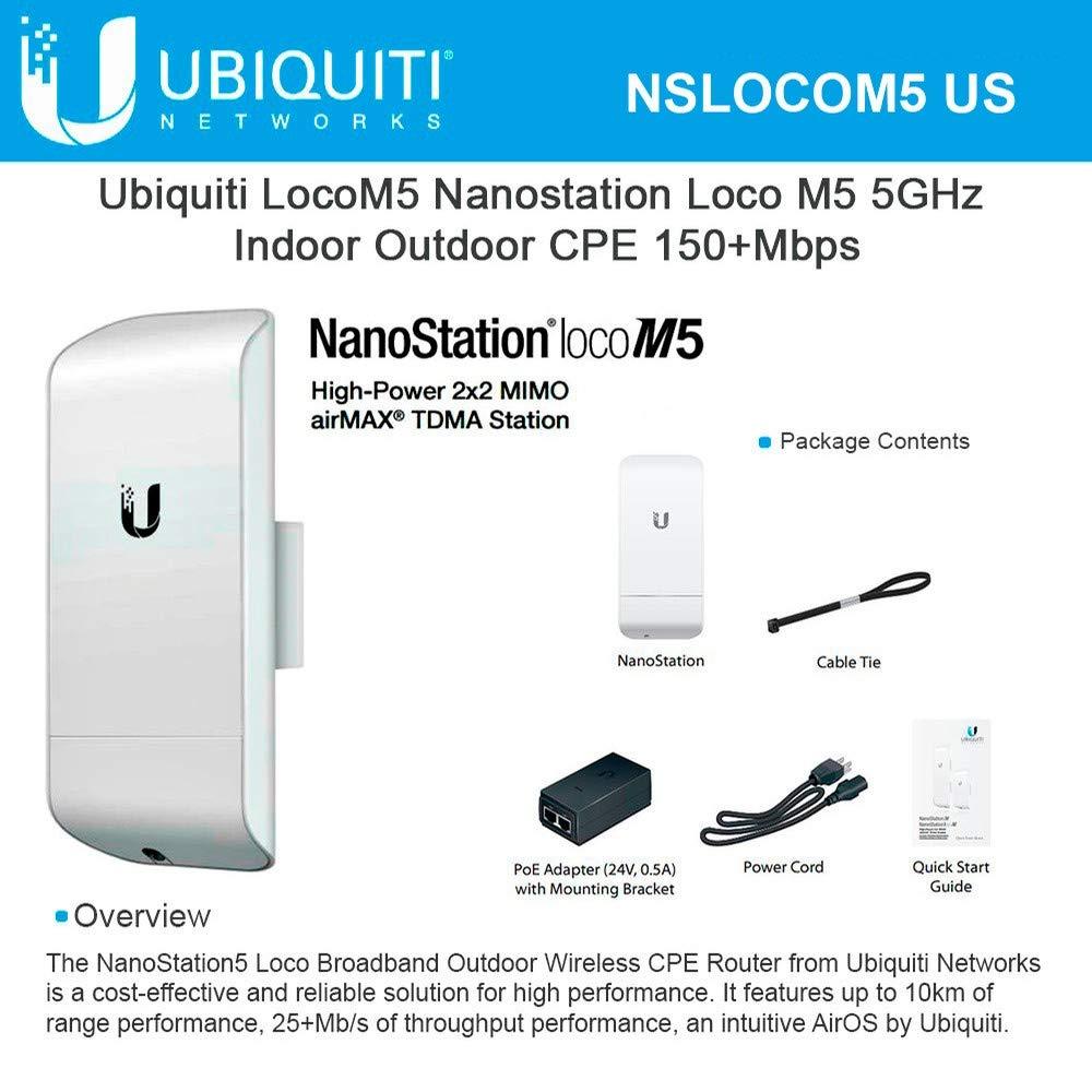 Ubiquiti LOCOM5 - Punto acceso exterior nanostation product image