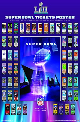 Super Bowl Ticket Poster - Trends International Super Bowl LII - Tickets Premium Wall Poster 22.375