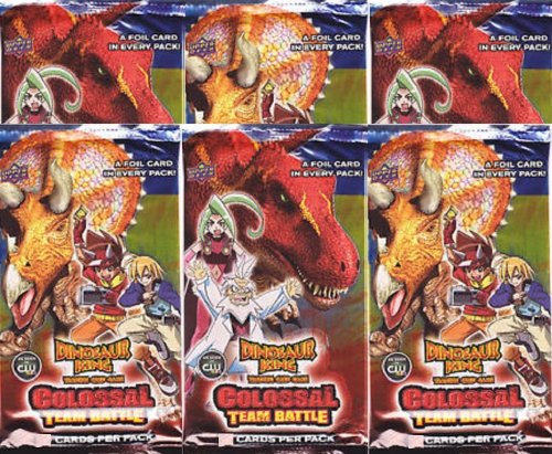 SIX Dinosaur King COLOSSAL TEAM BATTLE Booster Packs