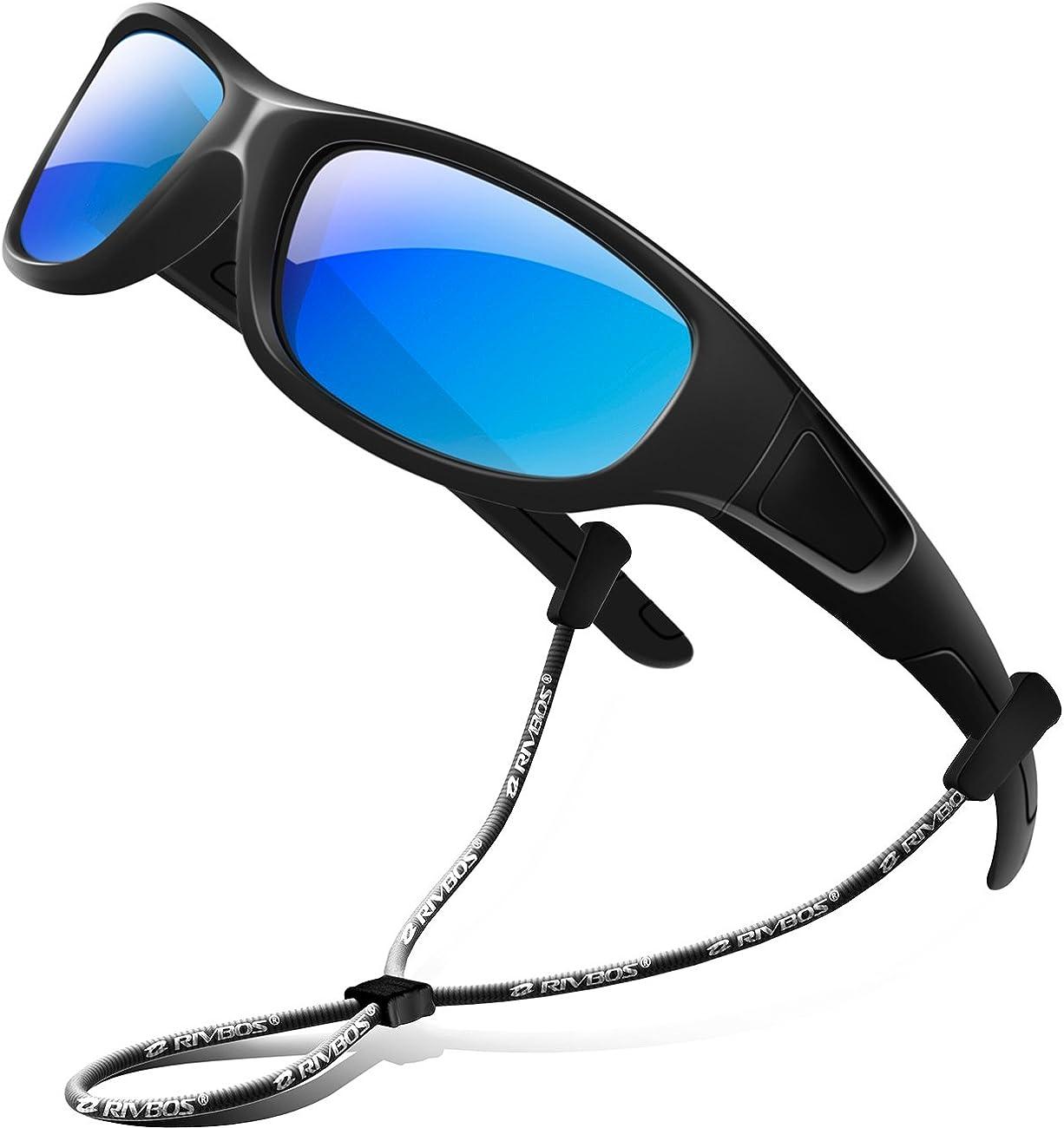 RIVBOS Rubber Kids Polarized Sunglasses for Boys Girls Children Age 3-10 RBK002-2