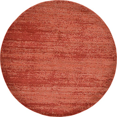 Unique Loom Del Mar Collection Terracotta 8 ft Round Area Rug (8' x 8') Rust 8' Round Area Rug