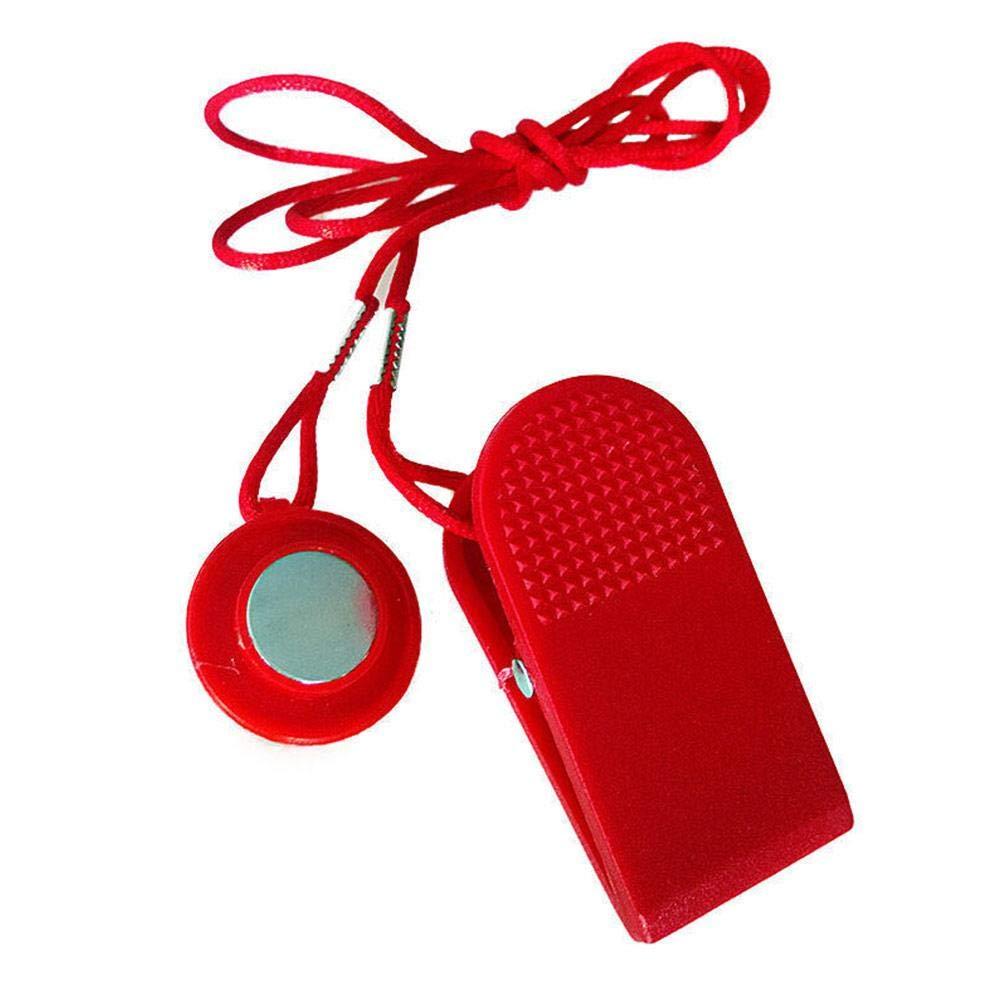 LeKing Bloqueo de Seguridad del Interruptor de Seguridad de la Cinta de Correr, Llave de Arranque eléctrica de la Cinta de Correr del Interruptor magnético (Embalaje del Bolso del OPP)