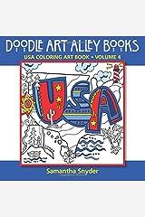 USA Coloring Art Book (Doodle Art Alley Books) (Volume 4) Paperback
