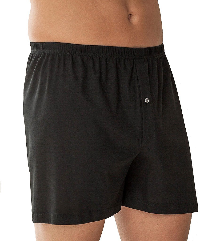 Zimmerli Business Class Open Fly Boxer (220-598) M/Black