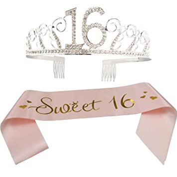 16th Birthday Decorations Party Supplies Sweet 16 Birthday balloons Tiara Crown