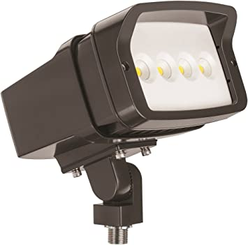 121 Watt Slipfitter Mount 10000 Lumens MVOLT 4000K Lithonia Lighting OFL2 40K DDBXD M2 LED Size 2 Floodlight with P2 Performance Package