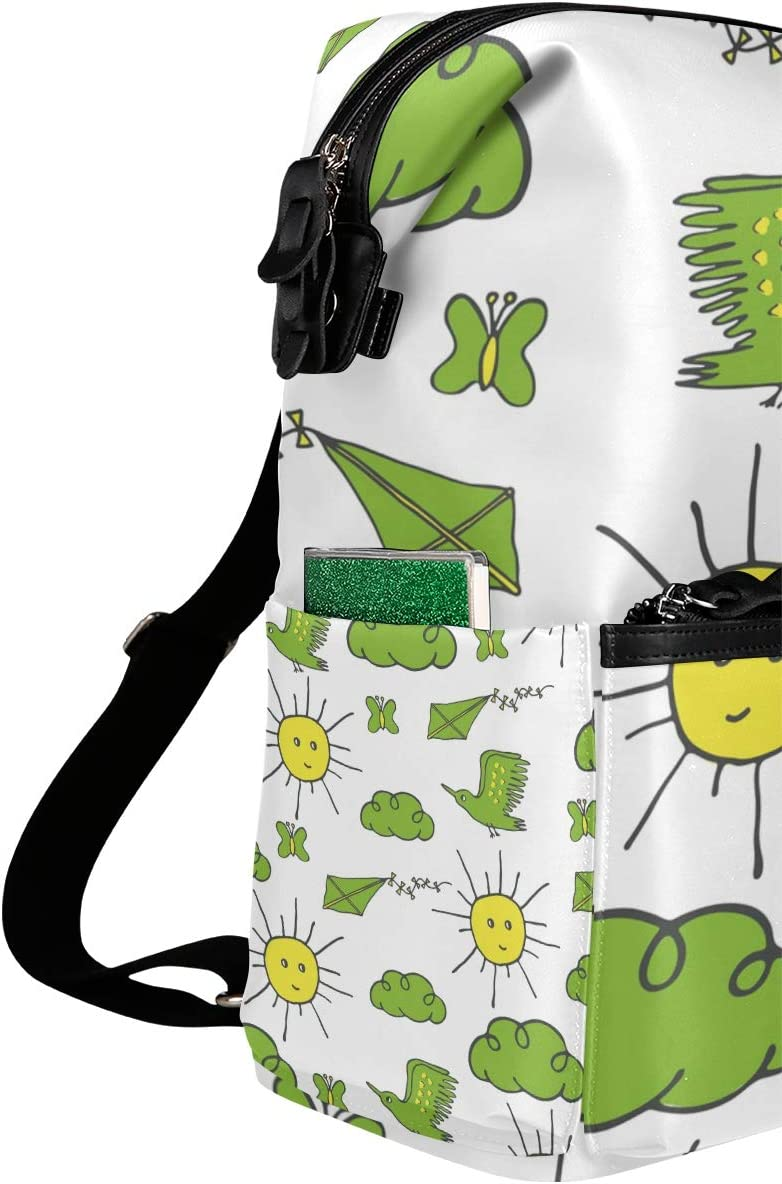 Backpack Rucksack Travel Daypack Cartoon Sun Cloud Book Bag Casual Travel Waterproof