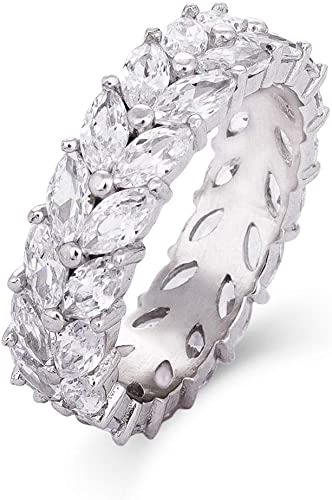 Sterling Silver and CZ Eternity Band