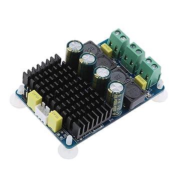 Sharplace 2 Canales 2x100W Audio Poder Amplificador Tablero Digital Amperio Módulo para Coche Computadora Altavoz Bricolaje