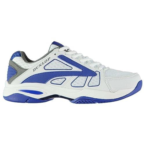 Dunlop - Zapatillas de Material Sintético para Hombre Blanco y Azul: Amazon.es: Zapatos y complementos