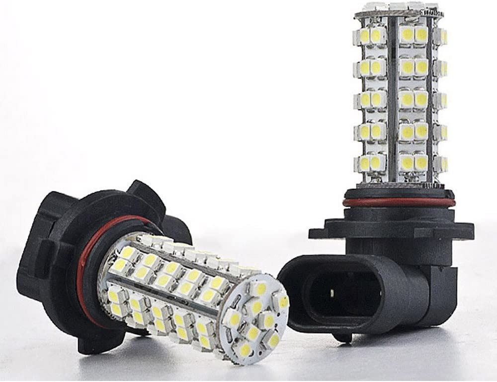 2x 6000K HID Xenon White H8//H11 68-SMD LED Bulbs Driving Fog Lights Lamps DRL