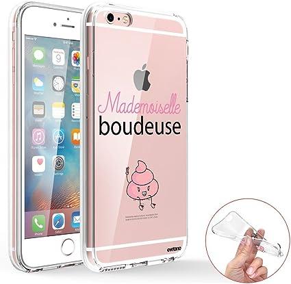 Evetane Coque Compatible avec iPhone 6/6S 360 intégrale Coque Avant arrière Resistant Fine Protection Solide Housse Etui Transparente Mademoiselle ...
