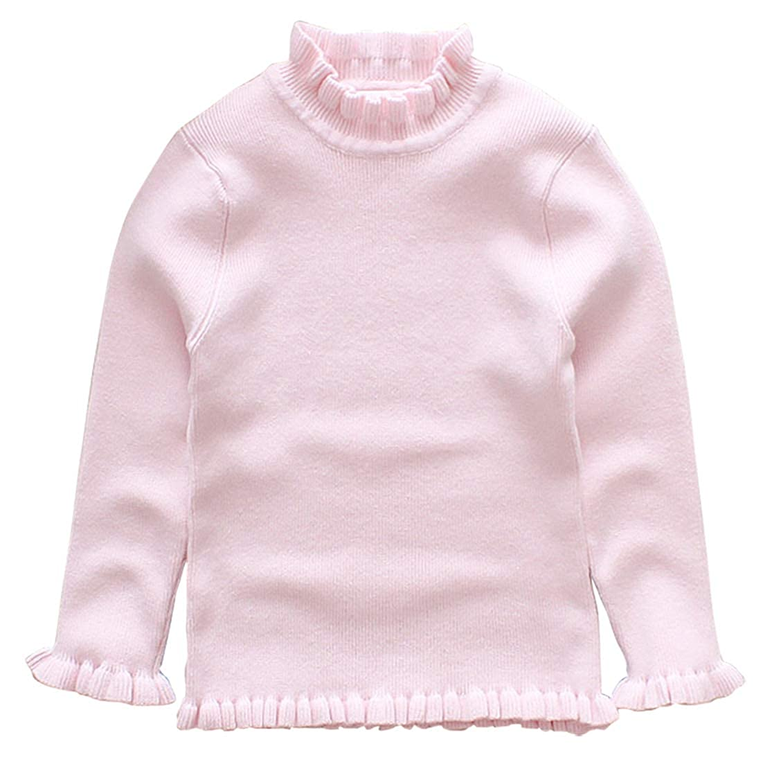 AIEOE Baby Girl Long Sleeve Pullover Sweater Turtleneck Warm Thick Knit Sweatshirt