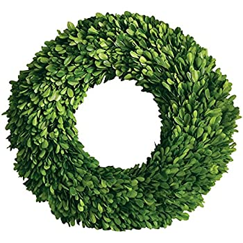 """Mills Floral Company Boxwood Round Wreath, Single Side 16"""""""