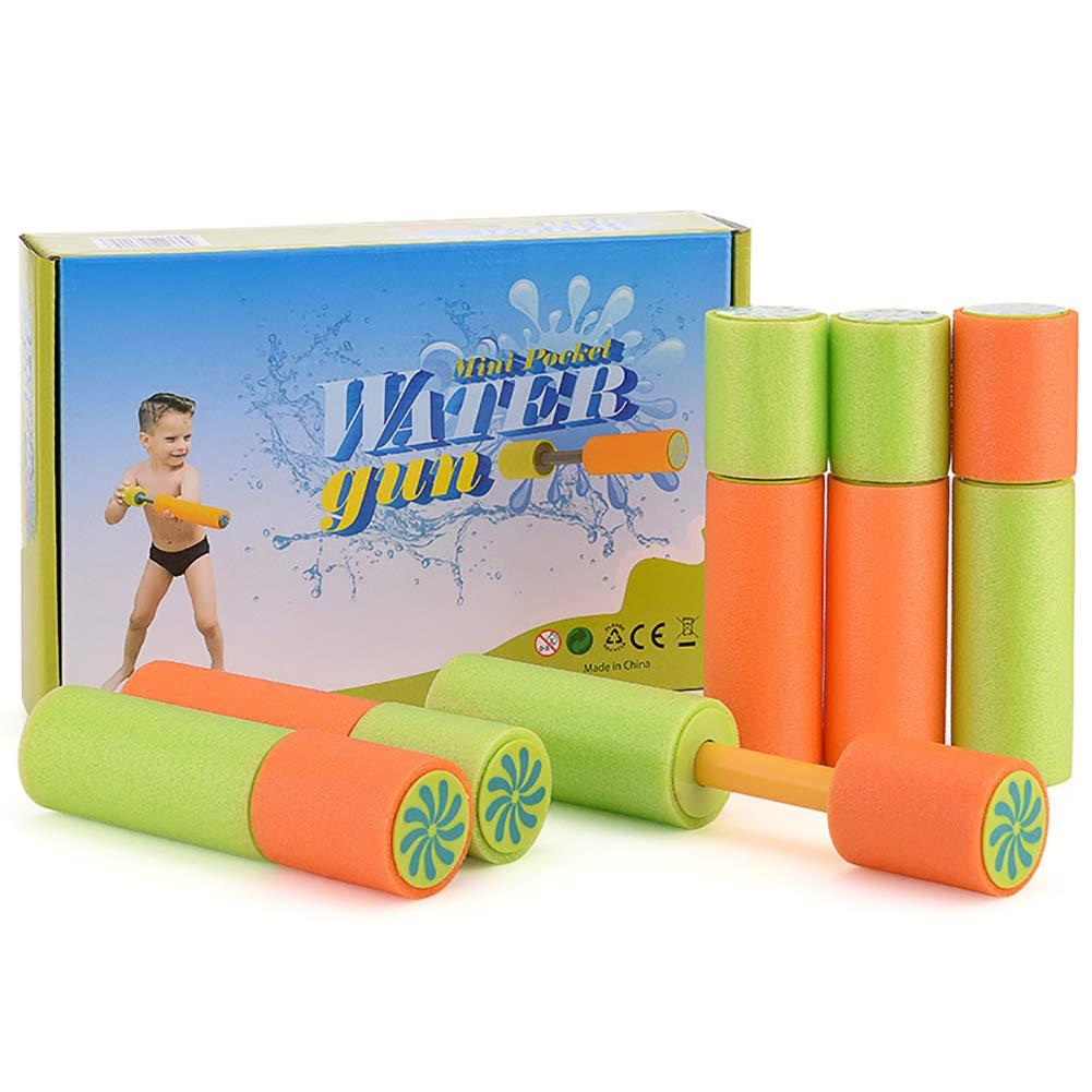 Viyor shop Foam Water Guns Water Blaster 6 Pack, Summer Swimming Pool & Beach Soaker Gun Shooter for Kids Adult (6 Pack, 6.22inch)