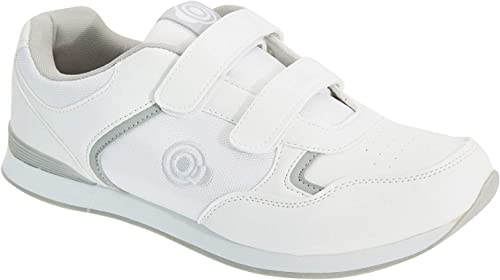 White Flat Sole Touch Fastening Trainers Free UK Shipping Mens New Black