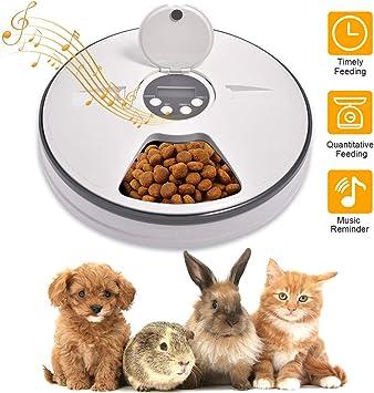 Lacyie Comedero Automático para Perros y Gatos, Dispensador de ...