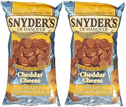 Snyder's of Hanover Pretzel Sandwiches - Cheddar Cheese - 8 oz - 2 Pack (Gold Cheddar Cheese)