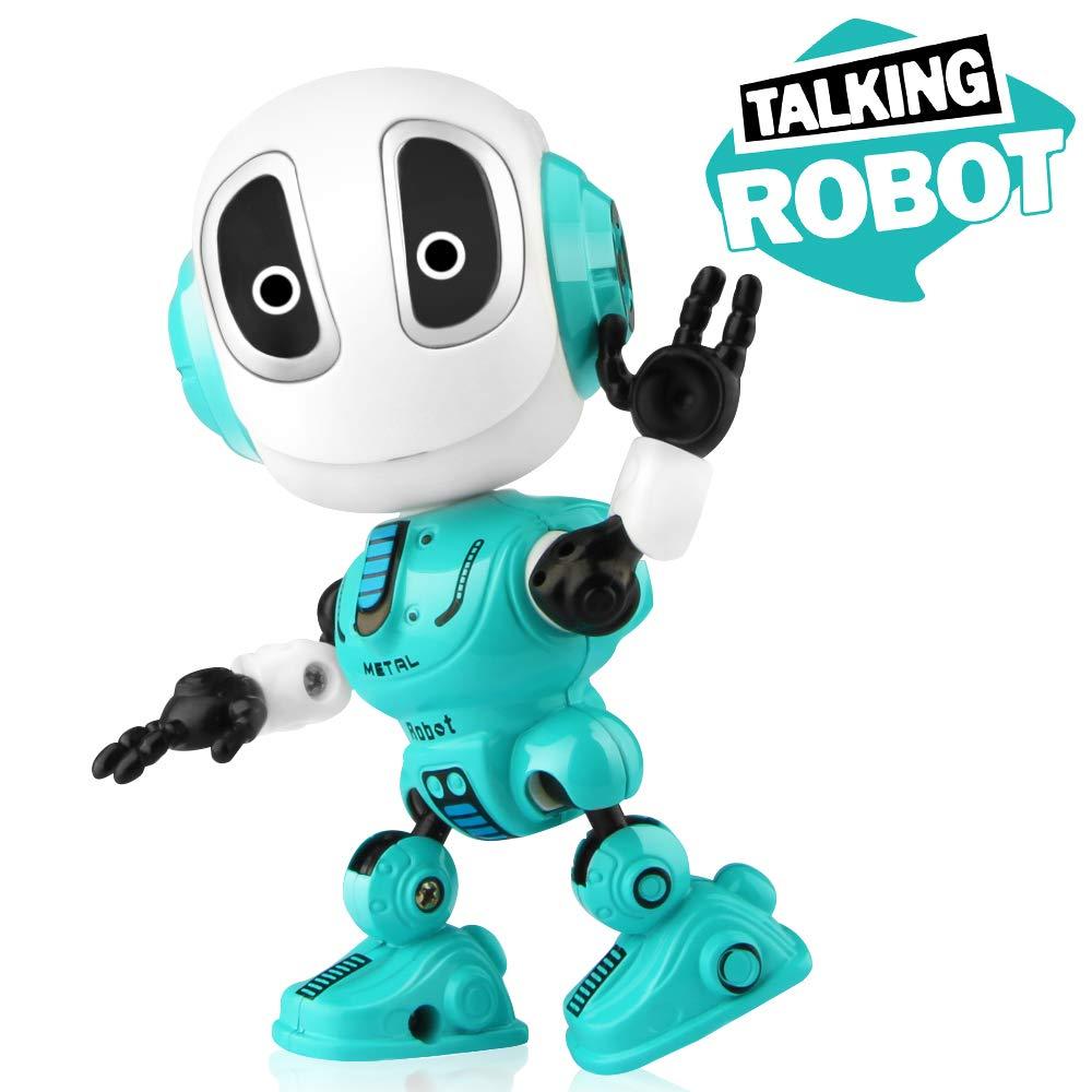Betheaces Robots Toy für Kids, Boys, Girls - Metal Talking Robot Kit mit Sound & Touch Sensitive geführt Eyes Flexible Body, Mini Smart Interactive Educational Toys für 2 3 4 5 6 Jahr alt Birthday Gift