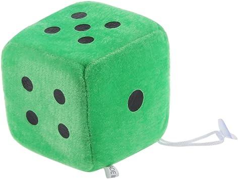 non-brand Cubo de Dados Cubos con Ventosa, 10 x 10 x 10 cm - Verde: Amazon.es: Juguetes y juegos