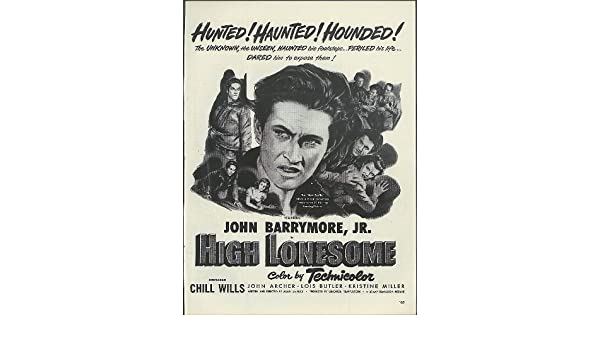Collectibles Collection Here Original Print Ad 1950 High Lonesome Movie Ad John Barrymore Jr