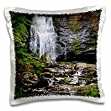 WhiteOaks Photography and Artwork - Waterfalls - Smokey Mountain Waterfall is a waterfall located in the mountains - 16x16 inch Pillow Case