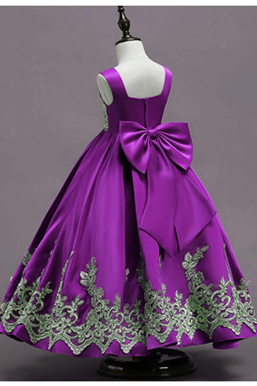 Zumeet Kids Girls Embroided Pleated Flare Dress